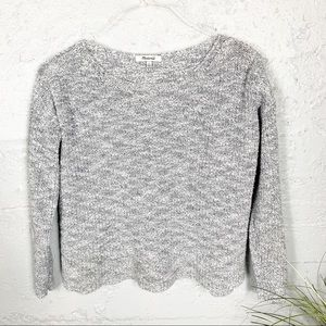 Madewell Gray Pullover Sweater